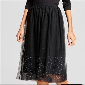 NWT Black Tulle skirt with sparkles size 3x
